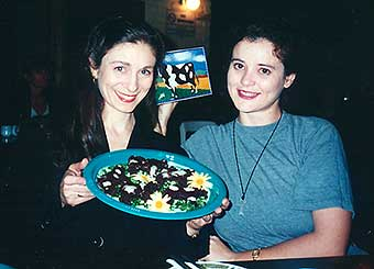 Deb and Lisa and cow brownies