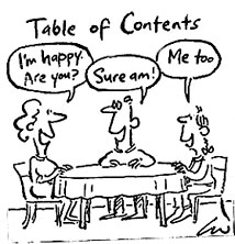 Table of Contents cartoon